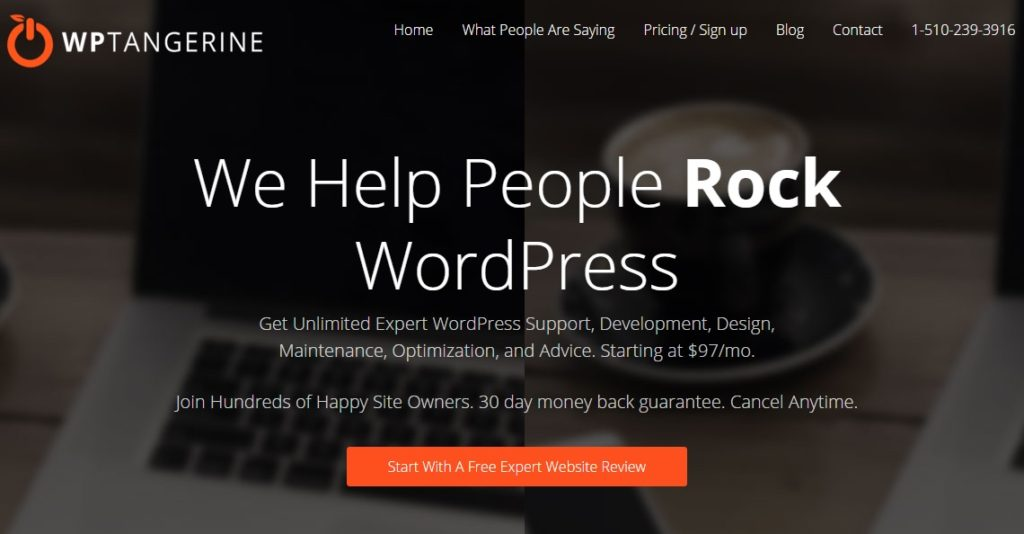 WordPress Support Service WP Tangerine Review 2018